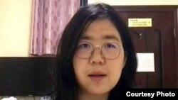 中國公民記者張展(照片來源:無國界記者網站)