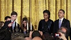 پرزيدنت اوباما در مراسم هانوکا در مورد آتش سوزی اسراييل اظهار همدردی کرد