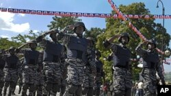 Members of the Haitian Police march in a ceremony in Port-au-Prince, (File).