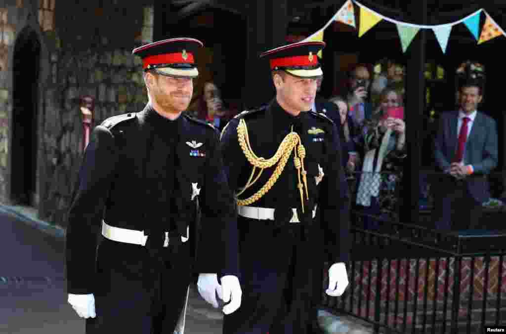 شاهزاده هری به همراه برادرش شاهزاده ویلیام