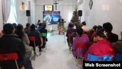 Một buổi sinh hoạt của Hội thánh Truyền giáo Phục Hưng dịp Giáng sinh 2020. Ảnh: PLO via Facebook