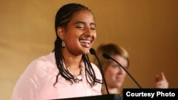 FILE – Ethiopian lawyer Yetnebersh Nigussie is being honored with the Spirit of Helen Keller Award. It's named for an American who promoted the rights of women and people with disabilities. (Photo courtesy of Light for the World)