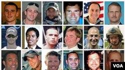 Foto 30 tentara AS yang tewas akibatnya jatuhnya pesawat helikopter Chinook di Afghanistan, Sabtu (6/8).