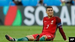 La star portugaise du Real Madrid, Cristiano Ronaldo, 10 juillet 2016.