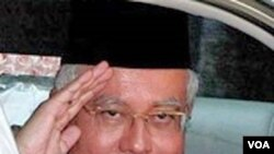 Perdana Menteri Malaysia Najib Razak, yang juga Ketua UMNO.
