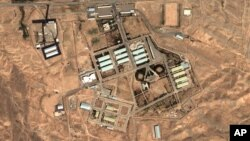 Aug. 13, 2004 satellite image provided by DigitalGlobe and the Institute for Science and International Security shows the military complex at Parchin, Iran, 30 km southeast of Tehran.