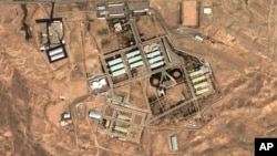 Foto satelit menunjukkan komplek militer utama Iran di Parchin yang diduga melakukan pengujian komponen bagi pengembangan senjata nuklir (foto: dok).