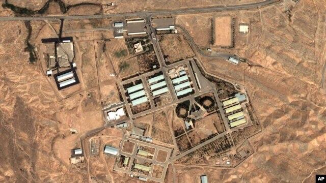 Una foto de satélite del sitio militar de Parchin, tomada en agosto de 2004.