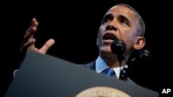 Tổng thống phát biểu về kinh tế và sự bất bình đẳng kinh tế hôm thứ ba tại Trung tâm Tiến bộ Mỹ, một tổ chức công cộng có lập trường cấp tiến về các vấn đề kinh tế