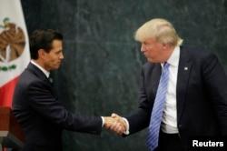 Donald Trump and Mexico's President Pena Nieto. (AP)