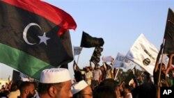 21일 리비아 벵가지에서 과격 무장단체의 영향력 확대에 반대하는 대규모 시위대