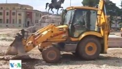 Hapet sheshi Skenderbej ne Tirane