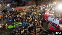 تصویر آرشیوی از یک تصادف زنجیرهای در تهران