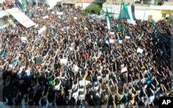 Manifestation anti-Assad, près de la ville de Homs, le 13 novembre 2011