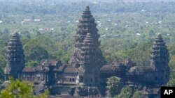 In this photo taken June 6, 2006, an overview of Angkor Wat temple tower, in Siem Reap province, the Cambodian main tourist destination in northwest of Phnom Penh, Cambodia.
