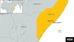 Peta wilayah Somalia (Foto: dok).