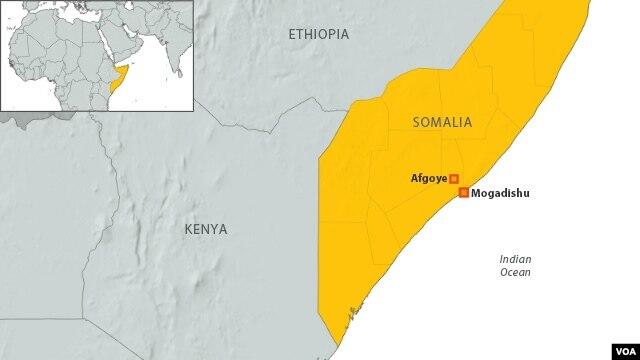Afgoye and Mogadishu, Somalia