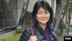 2002年至2008年任《產經新聞》駐北京記者的福島香織(美國之音歌籃拍攝)