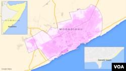 Banadir beach, in Mogadishu, Somalia