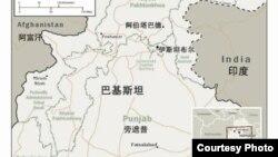 巴基斯坦地理位置图
