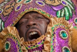 Will Crocker used Photoshop's shadow and highlights tool to make improvements to this picture of a Mardi Gras Indian