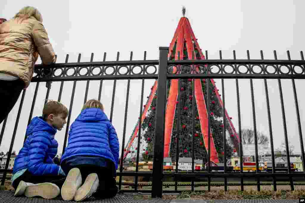 وائٹ ہاوس کے باغیچے میں روایتی کرسمس ٹری لگایا گیا۔