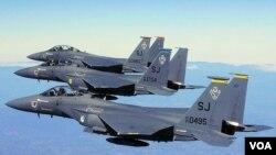 Jenis pesawat jet tempur F15E yang dipesan Angkatan Udara Saudi dan di-upgrade menjadi F15SA (Saudi Advanced).