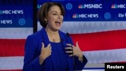 Senatorja demokrate Amy Klobuchar