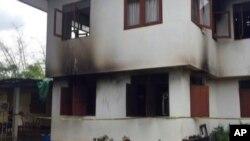 Trường học bị hư hại sau vụ hỏa hoạn tại Chiang Rai, miền Bắc Thái Lan, ngày 23/5/2016.