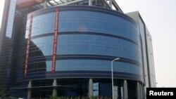 資料照:中芯國際在上海的辦公樓。 (2001年11月22日)