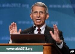 Anthony Fauci, Kepala Institut Nasional Alergi dan Penyakit Menular AS, yang juga peneliti AIDS dalam konferensi internasional AIDS di Washington, 23 Juli 2012.