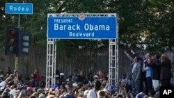 Lễ đặt tên Đại lộ Obama hôm 4/5/2019 tại TP. Los Angeles.