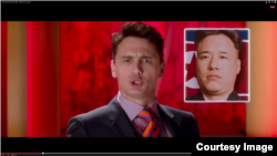 "Actor James Franco plays a character in a plot to kill the leader of North Korean in the movie ""The Interview."""