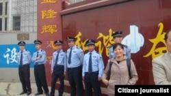 王书金案终审宣判之日邯郸市中院周边警戒森严。(李凤华供图)