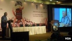 Pembukaan konferensi the Federation for Asian Cultural Promotion (FACP) di Solo, Jawa Tengah. (Foto: VOA/Yudha Satriawan)