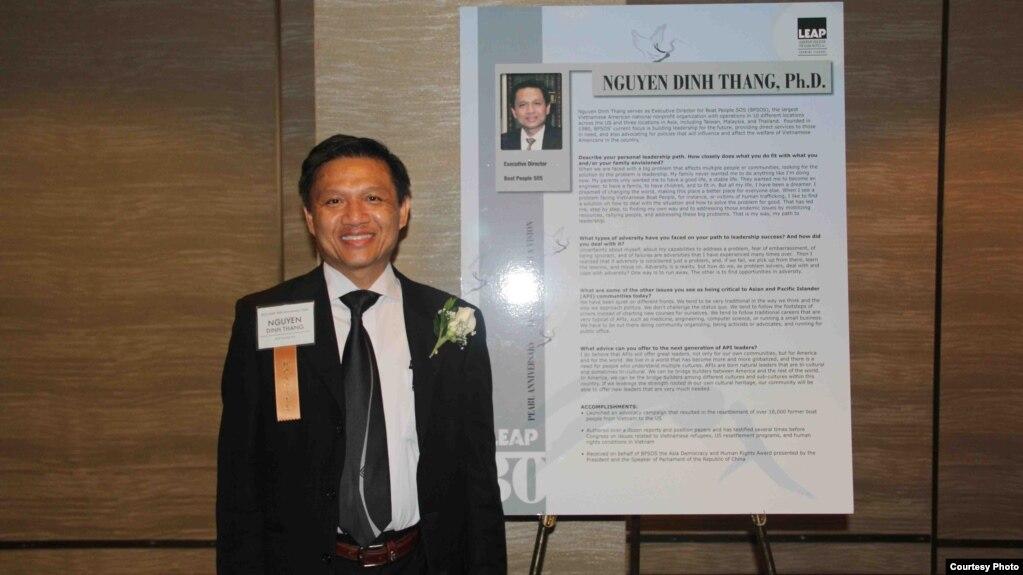 Tiến Sĩ Nguyễn Đình Thắng, Chủ tịch Ủy Ban Cứu trợ Người Vượt biển (BPSOS).