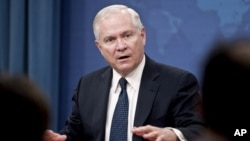 Secretary of Defense Robert Gates addresses the media during a press conference at the Pentagon, 24 Mar 2010