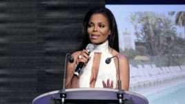 Janet Jackson at the auction for the amfAR Cinema Against AIDS benefit during the 65th Cannes film festival, in Cap d'Antibes, southern France, May 24, 2012.