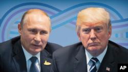 트럼프 미국 대통령(오른쪽)과 블라디미르 푸틴 대통령.