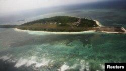 Ảnh chụp từ trên không đảo Thị Tứ, Philippines gọi là Pagasa, thuộc quần đảo Trường Sa đang tranh chấp ở Biển Đông.