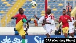 Lors du match entre la Guinée et le Soudan, le 14 janvier 2018.