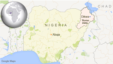 Map of Nigeria showing Dikwa