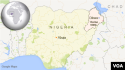 나이지리아 북동부 디크와 마을.