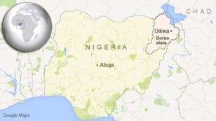 Map of Nigeria showing Dikwa