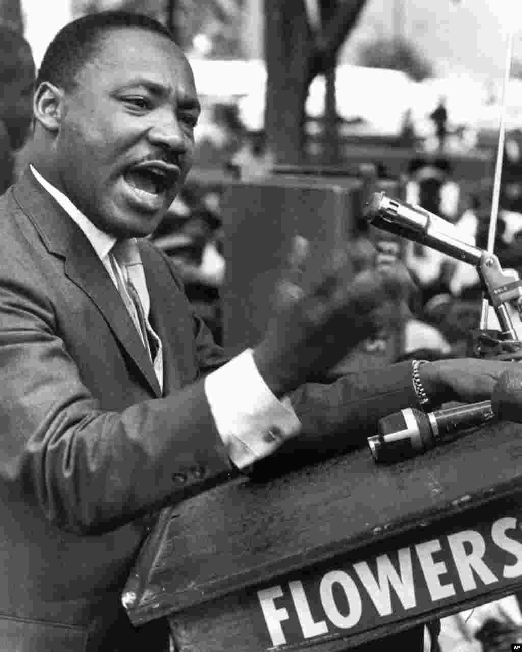 """Martin Luther King Jr., durante su discurso llamado """"I have a dream"""" o """"Yo tengo un sueño"""", el 28 de agosto de 1963."""