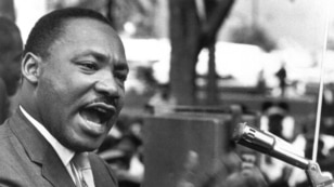 Martin Luther King, Jr. during the March on Washington.