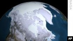 FILE - The Arctic ice cap.