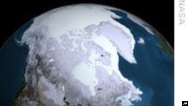 FILE - The Arctic ice cap.