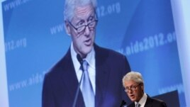 Former U.S. President Bill Clinton speaks at the 2012 International AIDS Conference, Friday, July 27, 2012, in Washington, D.C.