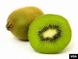 ໝາກ Kiwi ມີຂົນ ແລະມີລົດຊາດ ສົ້ມຫວານ.